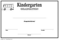 Kindergarten Graduation Certificate Free Printable 2