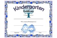 Kindergarten Graduation Certificate Template FREE Download 1
