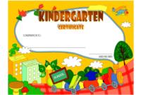 Kindergarten Graduation Certificate Template FREE Download 5