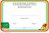 Kindergarten Quarantine Graduation Certificate Free Printable