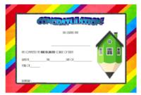 Kindergarten Quarantine Graduation Certificate Template