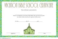 Lifeway VBS Certificate Template Free 2