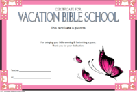 Lifeway VBS Certificate Template Free 4