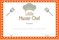 Master Chef Certificate Template FREE 2