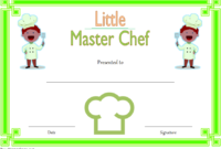Master Chef Certificate Template FREE 3