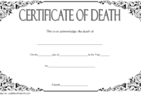 Mexican Death Certificate Template Free