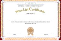 Nice List Certificate Free Printable Christmas Eve 1