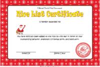Nice List Certificate Free Printable Christmas Eve 2