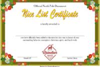 Nice List Certificate Free Printable Christmas Eve 3