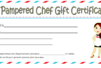 Pampered Chef Gift Certificate Template FREE 2