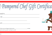 Pampered Chef Gift Certificate Template FREE 3