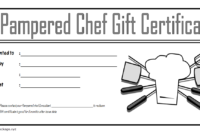 Pampered Chef Gift Certificate Template FREE 4