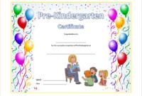 Pre K Diploma Template Free 1