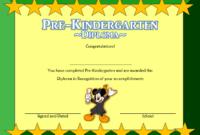 Pre K Diploma Template Free 2
