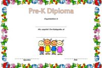 Pre K Diploma Template Free 3