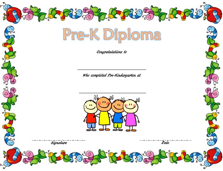 pre k diploma template, pre kindergarten certificate of completion, pre kindergarten certificate printable, pre-kindergarten diploma template