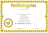 Pre K Graduation Diploma Free Printable 2