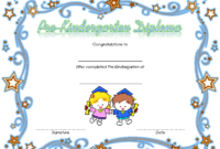 Pre Kindergarten Certificate of Completion Template Free 1