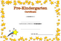 Pre Kindergarten Certificate of Completion Template Free 2