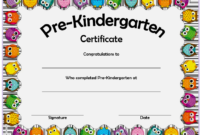 Pre Kindergarten Certificate of Completion Template Free 3