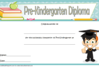 Pre Kindergarten Certificate of Completion Template Free 4