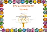 Pre-Kindergarten Diploma Template Free Printable 2