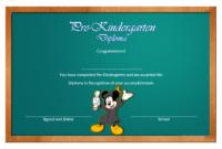 Pre-Kindergarten Diploma Template Free Printable 3