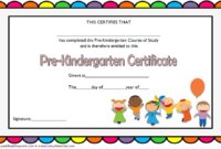 Pre Kindergarten Graduation Certificate Course of Study 1