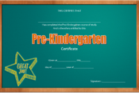 Pre Kindergarten Graduation Certificate Course of Study 2