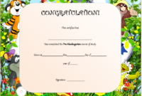 Pre Kindergarten Graduation Certificate Course of Study 3