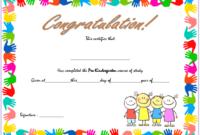 Pre Kindergarten Graduation Certificate Template Free