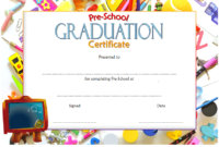 Preschool Graduation Certificate Editable Free (Version 1)