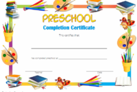Preschool Graduation Certificate Editable Free (Version 3)