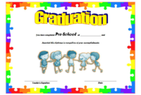 Preschool Graduation Certificate Printable Free 1