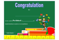 Preschool Graduation Certificate Printable Free 2