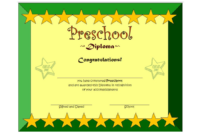 Preschool Printable Certificate of Completion Template Free 1
