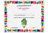 Preschool Printable Certificate of Completion Template Free 2