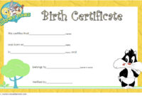 Printable Stuffed Animal Birth Certificate Free (3rd Designs)