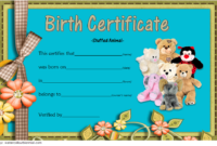 Stuffed Toy Birth Certificate Free Printable for Teddy Bear