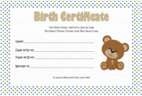 Teddy Bear Birth Certificate Free Printable 1