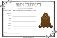 Teddy Bear Birth Certificate Free Printable 3