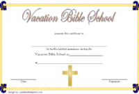 VBS Attendance Certificate Template Free 3