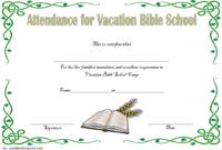 VBS Attendance Certificate Template Free 5