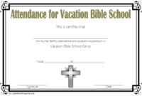 VBS Attendance Certificate Template Free 6