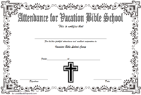 VBS Attendance Certificate Template Free 7