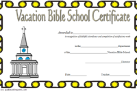 VBS Certificate of Completion Template Free 1