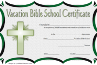 VBS Certificate of Completion Template Free 2