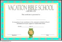 VBS Volunteer Certificate Template Free 1