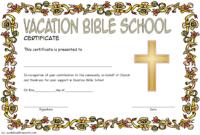 VBS Volunteer Certificate Template Free 2