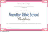 Vacation Bible School Certificate Template Free Printable 1